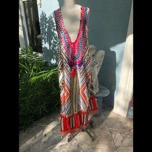 Dresses & Skirts - Maxi Graphic Print Dress.  NWOT. Size M (6-7)